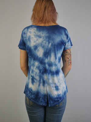 Tie Dye Top with V Back Detail