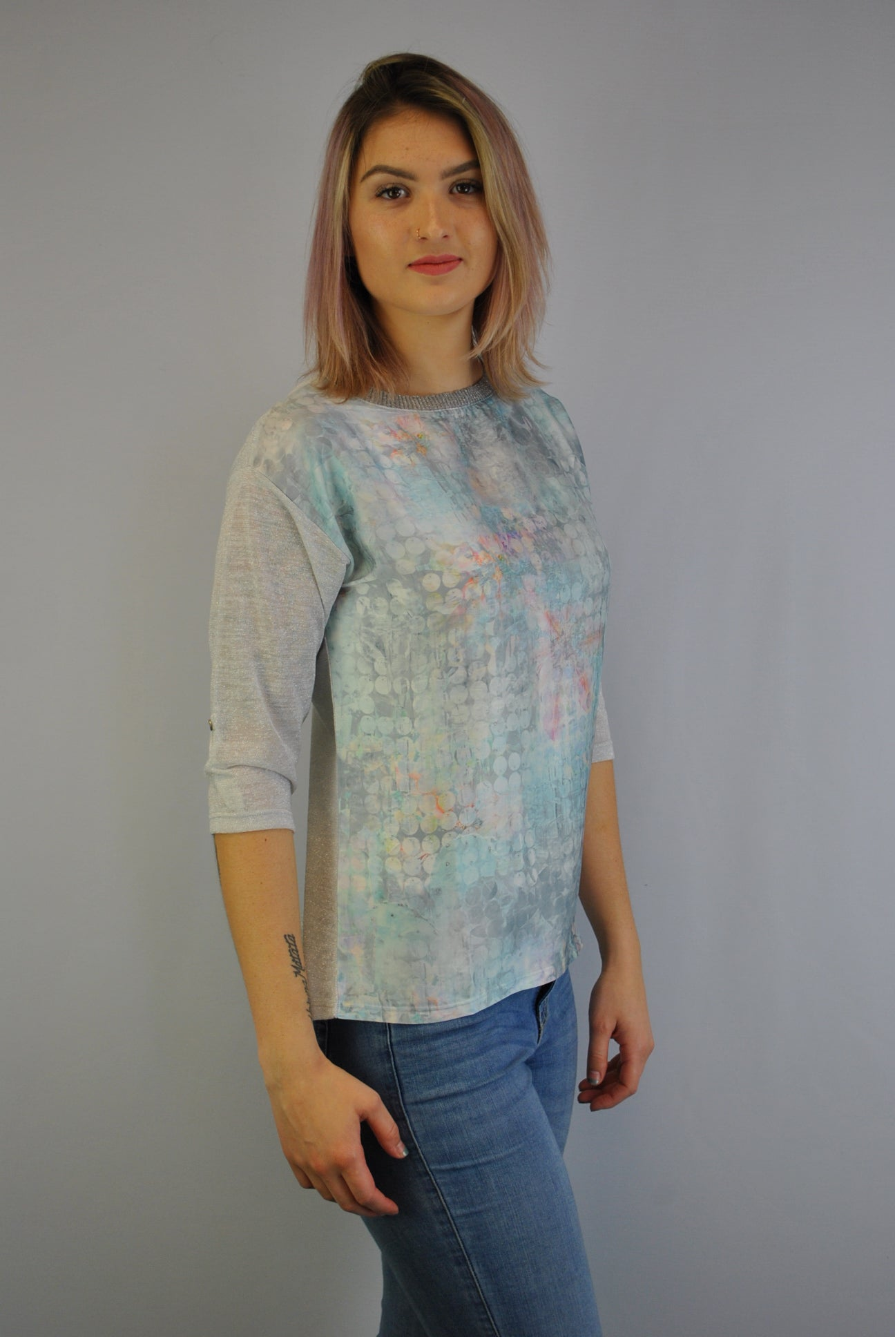 Dècoltè Top with Adjustable Sleeve