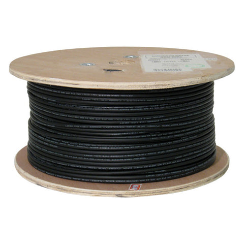 Cat5e, 350 Mhz, UTP, Gel Filled (Flooded Core), Direct Burial, 1000ft, Black, Bulk Ethernet Cable, Wooden Spool