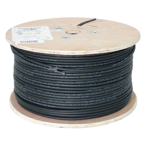 CAT5E, Shielded Waterproof Tape, Direct Burial, 1000ft, Black, Bulk Ethernet Cable, Wooden Spool