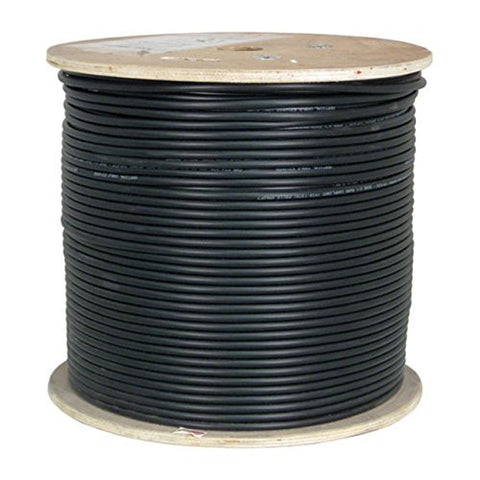 Cat6, UTP Waterproof Tape, Direct Burial, 1000ft, Black, Bulk Ethernet Cable