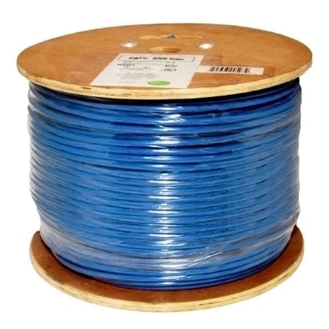 Cat6, 550 MHz, Shielded, 23AWG, Solid Bare Copper, 1000ft, Blue, Bulk Ethernet Cable