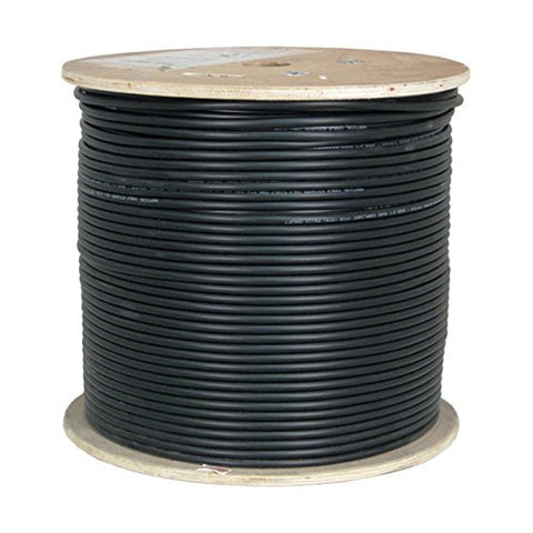 CAT6A UV Rated Outdoor Bulk Cable 1,000ft. - Black