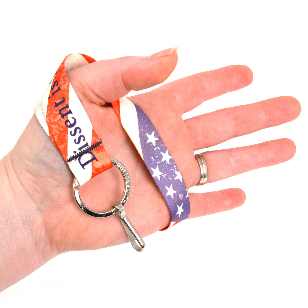 Buttonsmith Dissent Wristlet Lanyard Made in USA