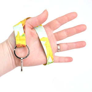 Buttonsmith Van Gogh Sunflower Wristlet Lanyard Made in USA