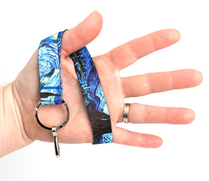 Buttonsmith Van Gogh Starry Night Wristlet Lanyard Made in USA