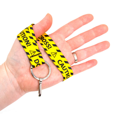 Buttonsmith Caution Wristlet Lanyard - Made in USA