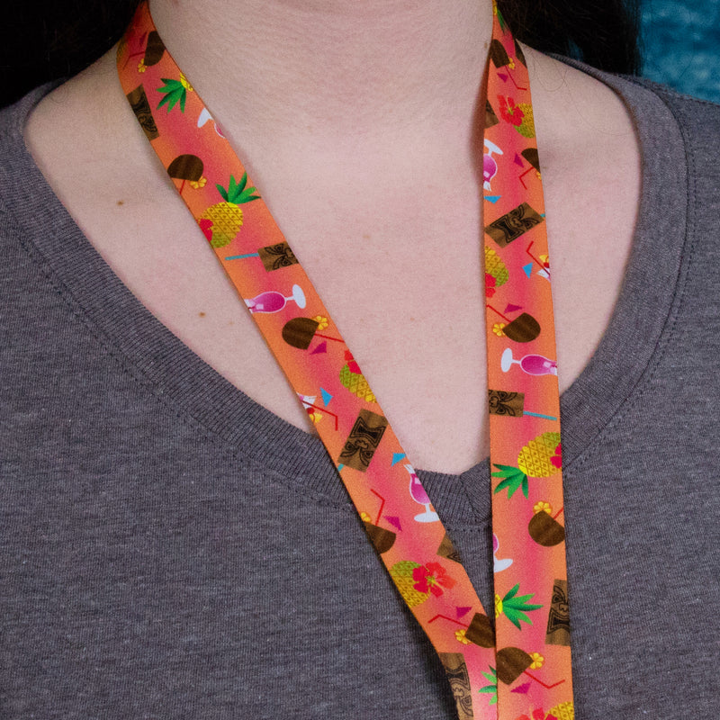 Buttonsmith Tiki Drink Lanyard Made in USA - Buttonsmith Inc.