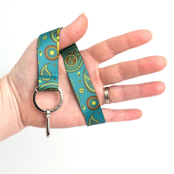 Buttonsmith Paisley Wristlet Lanyard Made in USA