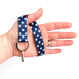 Buttonsmith Stars & Stripes Wristlet Lanyard Made in USA
