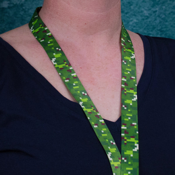 Buttonsmith PixelLand Camo Breakaway Lanyard - Made in USA