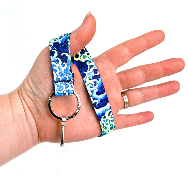 Buttonsmith Hokusai Waves Wristlet Lanyard Made in USA