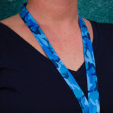 Buttonsmith Blue Camo Custom Lanyard Made in USA