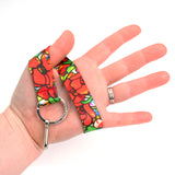 Buttonsmith Tiffany Poppies Wristlet Lanyard Made in USA