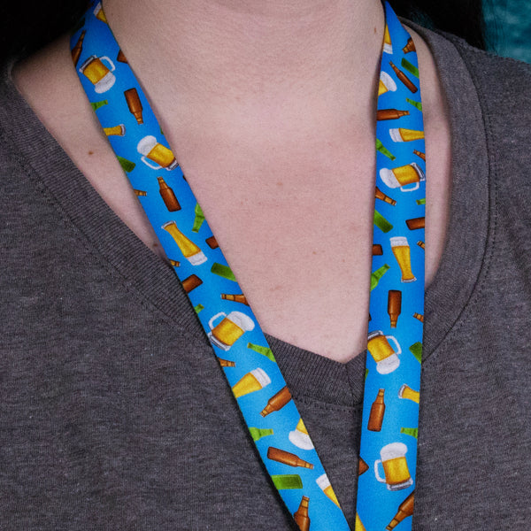 Buttonsmith Beer Lanyard Made in USA