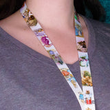 Buttonsmith Beatrix Potter Peter Rabbit Custom Lanyard Made in USA