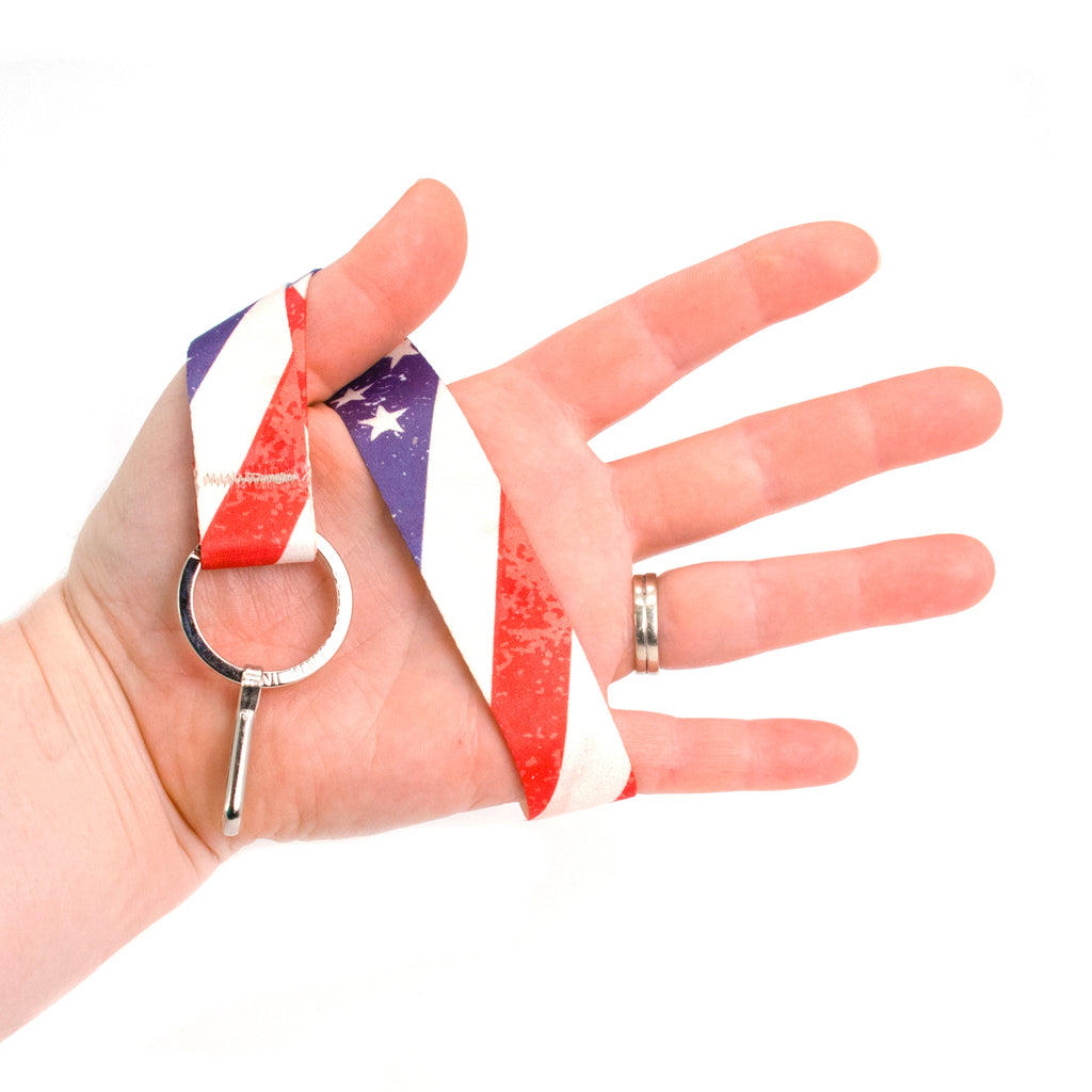Buttonsmith Old Glory Wristlet Lanyard Made in USA