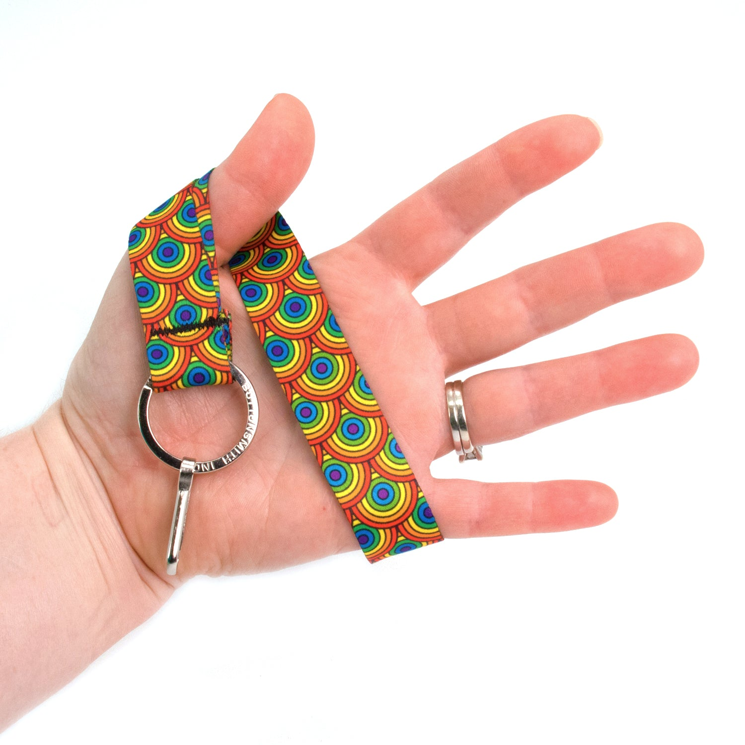 Buttonsmith Rainbow Arches Wristlet Lanyard Made in USA