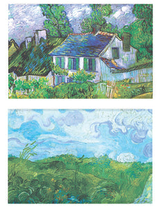 Buttonsmith® Vincent Van Gogh House and Hay Stacks Refrigerator Magnet Set - Made in the USA