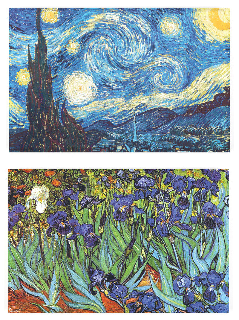Buttonsmith® Vincent Van Gogh Starry Night Refrigerator Magnet Set - Made in the USA - Buttonsmith Inc.