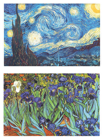 Buttonsmith® Vincent Van Gogh Starry Night Refrigerator Magnet Set - Made in the USA