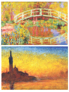 Buttonsmith® Claude Monet Bridges Refrigerator Magnet Set - Made in the USA
