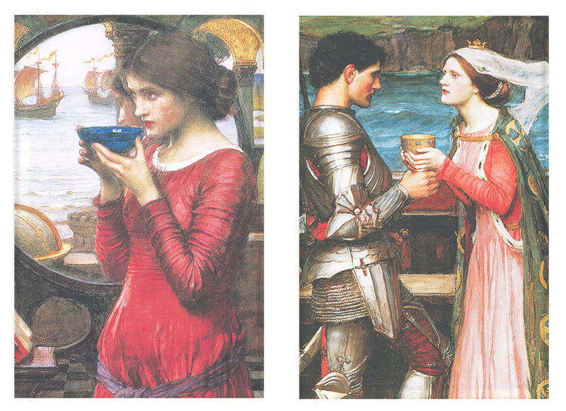 Buttonsmith® John William Waterhouse Destiny & Tristen & Isolde Rectangle Magnet Set of 2 - Made in the USA - Buttonsmith Inc.