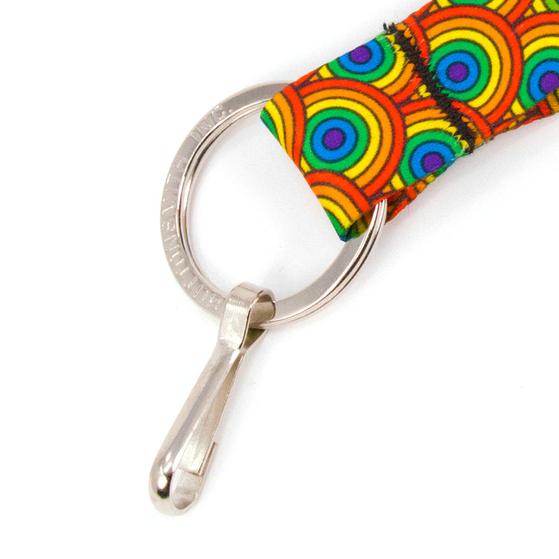 Buttonsmith Rainbow Arches Custom Lanyard Made in USA - Buttonsmith Inc.