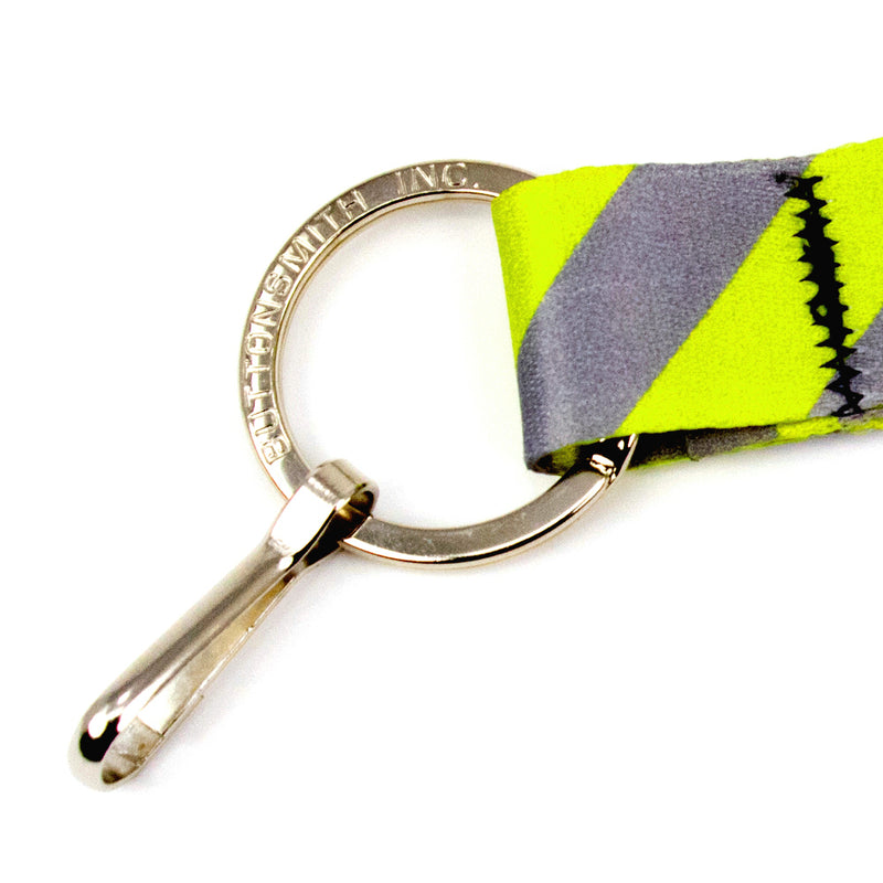 Buttonsmith Pewter Lime Dots Lanyard - Made in USA - Buttonsmith Inc.