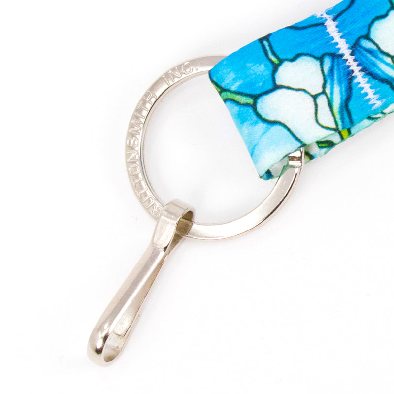 Buttonsmith Tiffany Magnolia Wristlet Lanyard Made in USA - Buttonsmith Inc.
