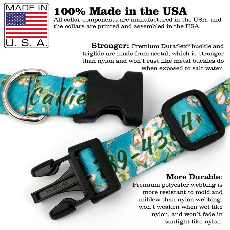 Custom Personalized Dog Collars - Dots Designs - Made in USA - Buttonsmith Inc.