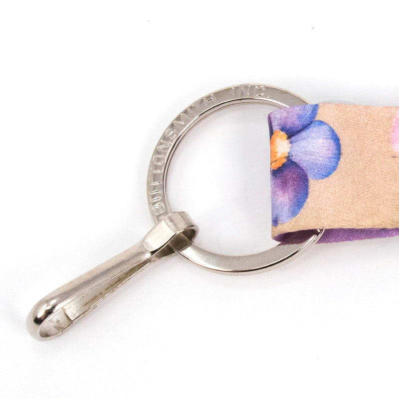 Buttonsmith Watercolor Flowers Custom Lanyard Made in USA - Buttonsmith Inc.