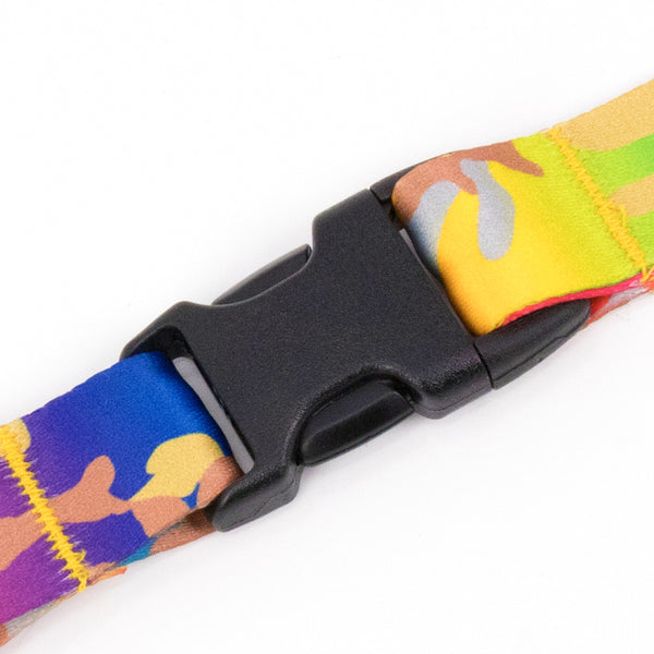 Buttonsmith Rainbow Camo Custom Lanyard Made in USA