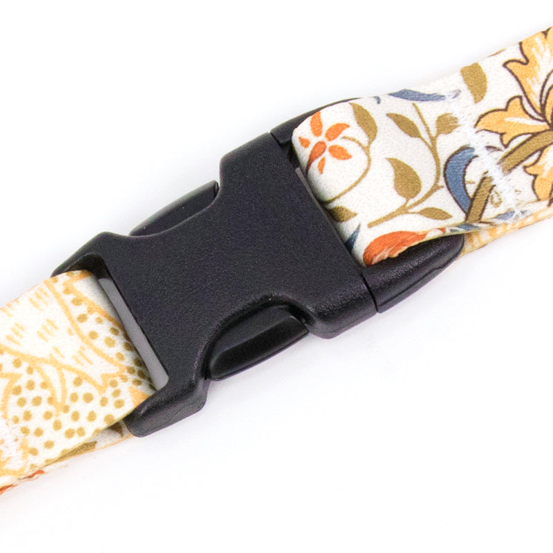 Buttonsmith William Morris Flora Lanyard - Made in USA - Buttonsmith Inc.
