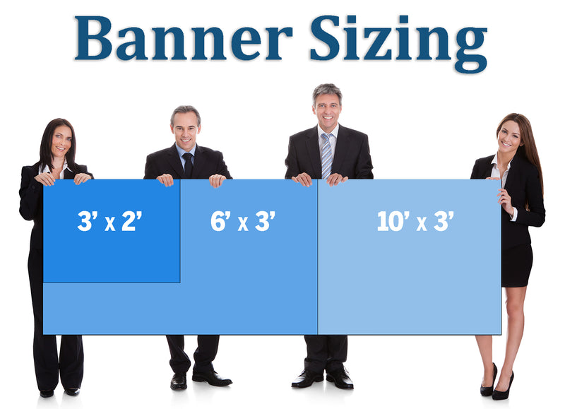 Custom 2' x 3' Banner - Design Your Own - Hemmed & Grommeted - Indoor/Outdoor - Printed and Assembled in USA - Buttonsmith Inc.
