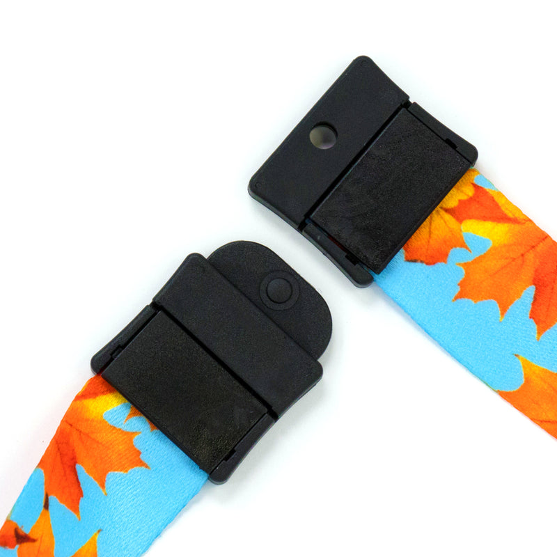 Buttonsmith Fall Leaves Breakaway Lanyard - Made in USA - Buttonsmith Inc.