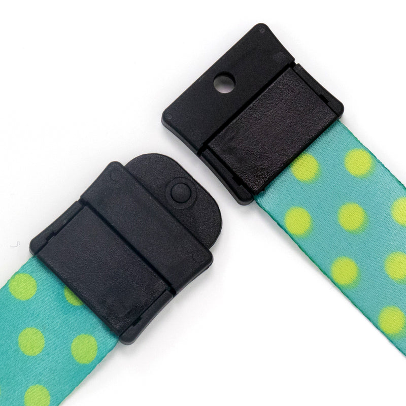 Buttonsmith Aqua Dots Breakaway Lanyard - Made in USA - Buttonsmith Inc.