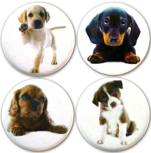 Buttonsmith® Puppies  Tinker Top® Set – Made in USA – for use with Tinker Reel® Badge Reels