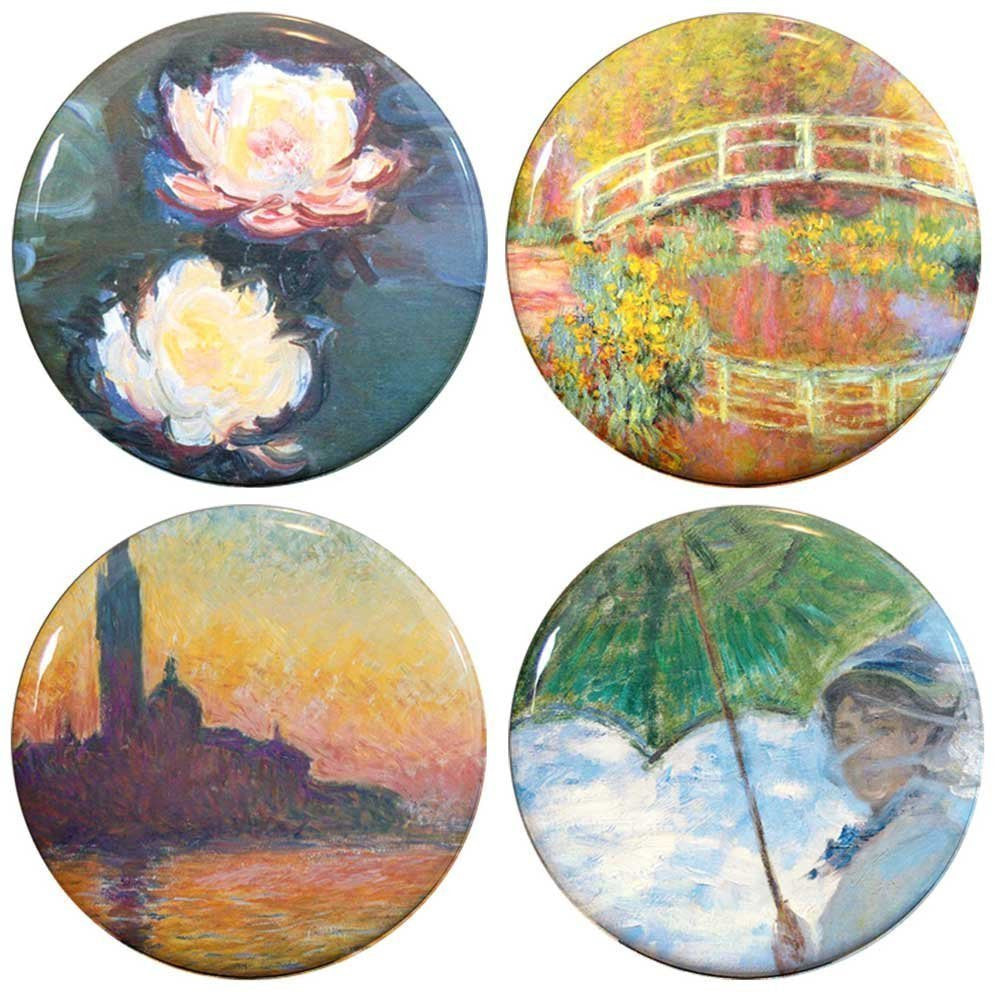 Buttonsmith® Claude Monet Water Lilies Tinker Top® Set – Made in USA – for use with Tinker Reel® Badge Reels