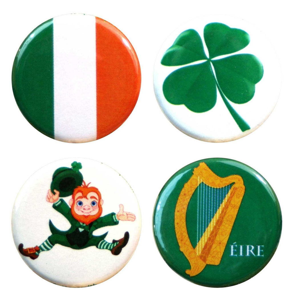Buttonsmith® Ireland Tinker Top® Set – Made in USA – for use with Tinker Reel® Badge Reels