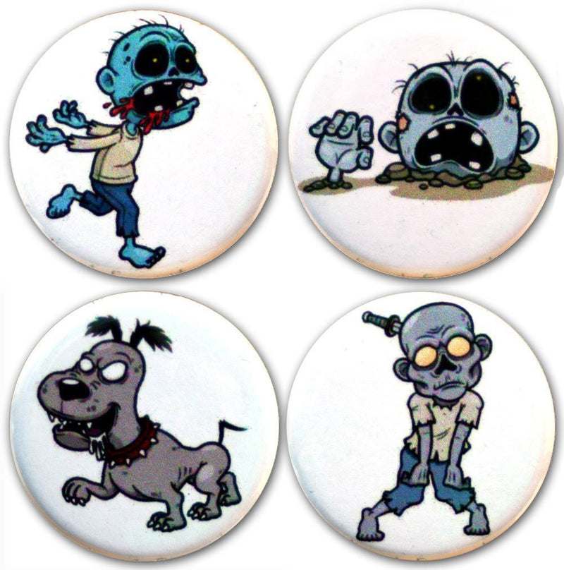 Buttonsmith® Zombies Tinker Top® Set – Made in USA – for use with Tinker Reel® Badge Reels - Buttonsmith Inc.