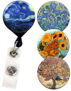 Buttonsmith® Van Gogh Tinker Reel® Badge Reel – Made in USA