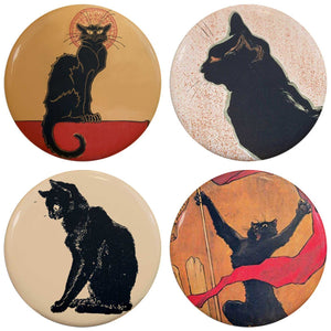 Buttonsmith® Steinlen Cats Tinker Top® Set – Made in USA – for use with Tinker Reel® Badge Reels