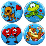 Buttonsmith® Cartoon Love Tinker Top® Set – Made in USA – for use with Tinker Reel® Badge Reels
