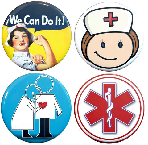 Buttonsmith® Nurse Tinker Top® Set – Made in USA – for use with Tinker Reel® Badge Reels