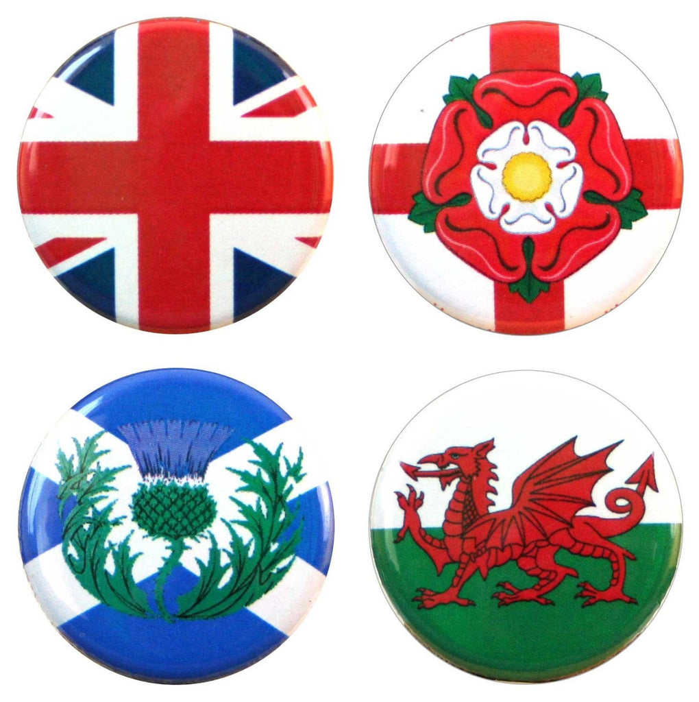 Buttonsmith® UK Flags Tinker Top Set