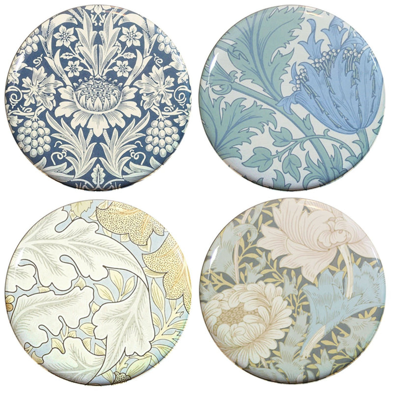 Buttonsmith® William Morris Chrysanthemum Tinker Top® Set – Made in USA – for use with Tinker Reel® Badge Reels - Buttonsmith Inc.