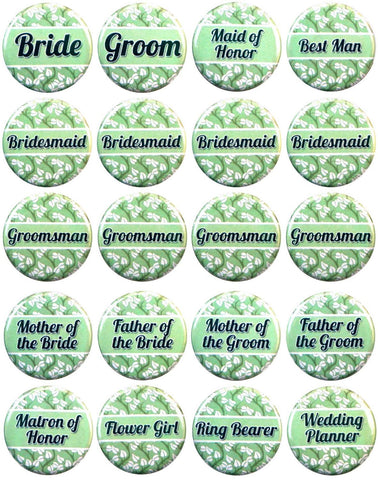 Wedding Button Set