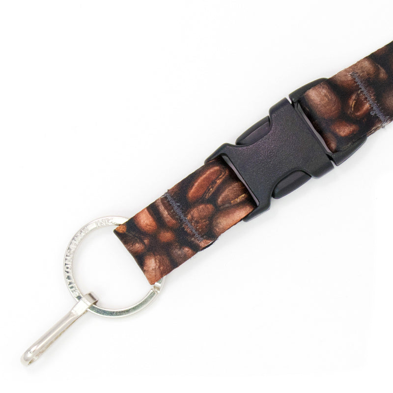Buttonsmith Coffee Beans Breakaway Lanyard Made in USA - Buttonsmith Inc.
