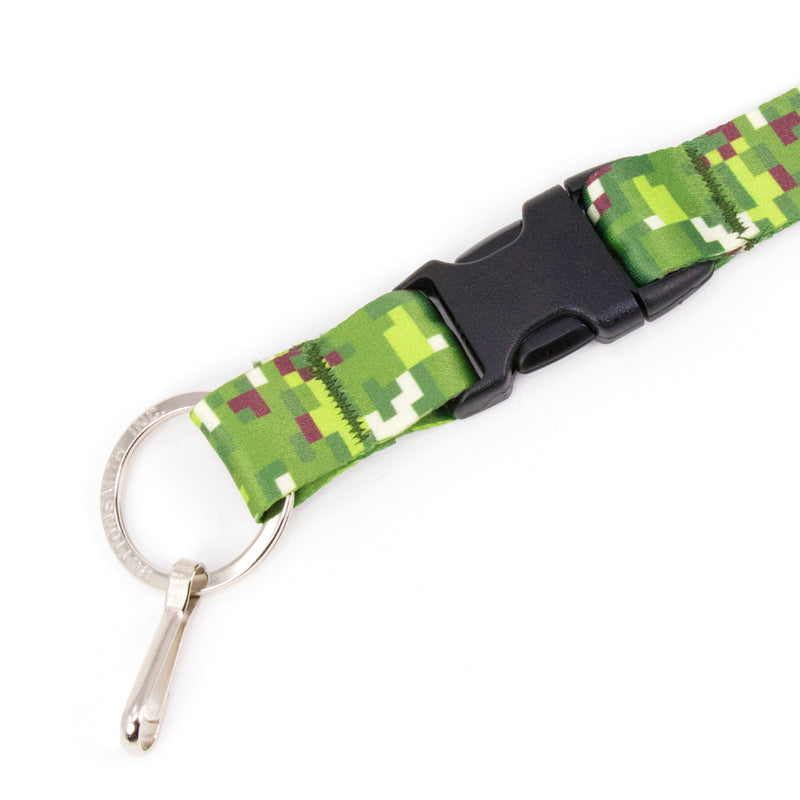 Buttonsmith PixelLand Camo Breakaway Lanyard - Made in USA - Buttonsmith Inc.